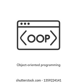 object oriented programming icon vector. object oriented programming symbol. object oriented programming icon vector. Linear style sign for mobile concept and web design. symbol logo illustration