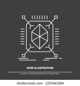 Object, prototyping, rapid, structure, 3d Icon. Line vector symbol for UI and UX, website or mobile application