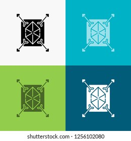 Object, prototyping, rapid, structure, 3d Icon Over Various Background. glyph style design, designed for web and app. Eps 10 vector illustration