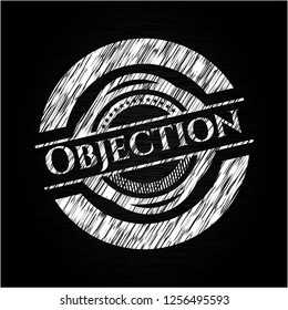 Objection with chalkboard texture