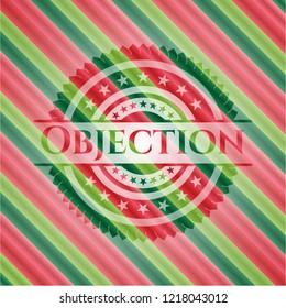 Objection christmas colors emblem.