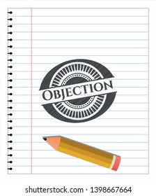 Objection draw with pencil effect. Vector Illustration. Detailed.