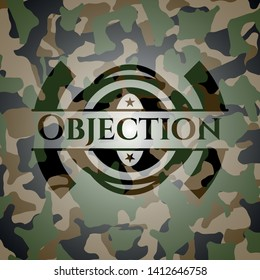 Objection on camo texture. Vector Illustration. Detailed.