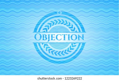Objection water wave badge.