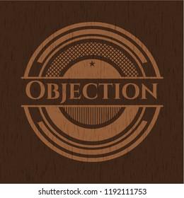 Objection wooden emblem