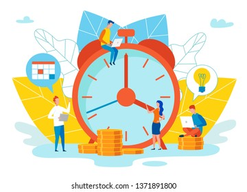 An Objective Assessment Possibilities Deadline. Close up Alarm Clock. Oyudi next to Clock Working on Project. Move Date Day, Creation Temporary Reserve and Leave Chance for Correction Defects.