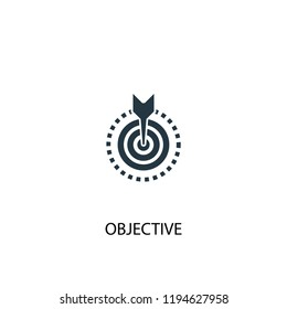 objective icon. Simple element illustration. objective concept symbol design. Can be used for web and mobile.