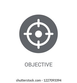 Objective icon. Trendy Objective logo concept on white background from Productivity collection. Suitable for use on web apps, mobile apps and print media.