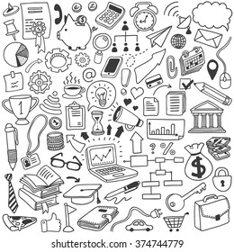 objects doodle set