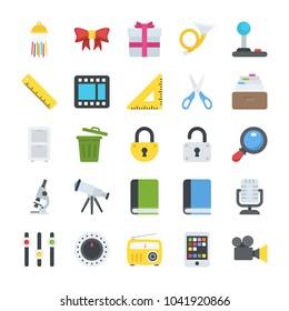 Objects Flat Icons Set