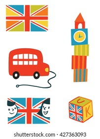 objects on the theme of England and London