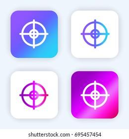 Objetive bright purple and blue gradient app icon