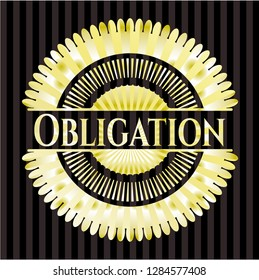 Obligation gold shiny badge