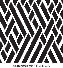 Oblique black lines. Vector seamless pattern. Repeating geometric background.
