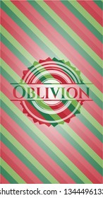 Oblivion christmas colors emblem.