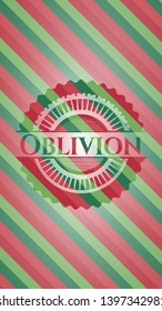 Oblivion christmas colors emblem. Vector Illustration. Detailed.