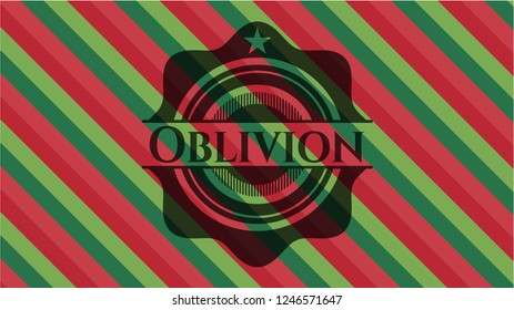Oblivion christmas style badge..