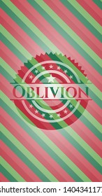 Oblivion christmas style emblem. Vector Illustration. Detailed.