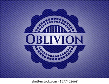 Oblivion emblem with denim high quality background