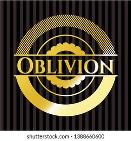 Oblivion gold emblem. Vector Illustration. Detailed.