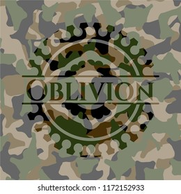 Oblivion on camouflaged texture
