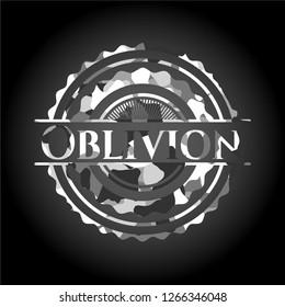 Oblivion on grey camo texture