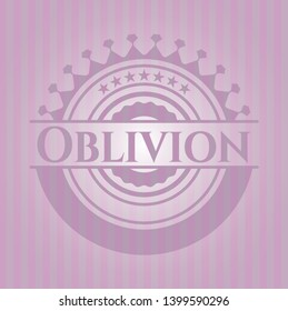 Oblivion pink emblem. Vintage. Vector Illustration. Detailed.