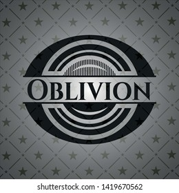 Oblivion realistic dark emblem. Vector Illustration. Detailed.