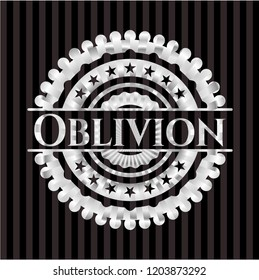 Oblivion silver badge or emblem