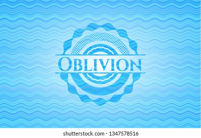 Oblivion water badge background.