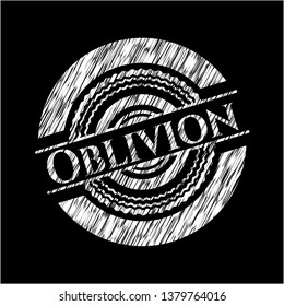 Oblivion written with chalkboard texture