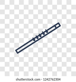 Oboe icon. Trendy linear Oboe logo concept on transparent background from Music collection