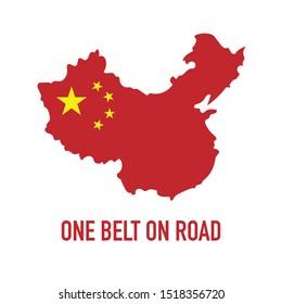 Obor China Vector Illustration. One Belt One Road Initiative Design