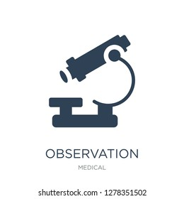 observation icon vector on white background, observation trendy filled icons from Medical collection, observation vector illustration