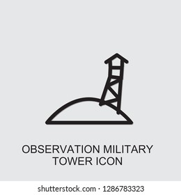 observation military tower icon . Editable outline observation military tower icon from war. Trendy observation military tower icon for web and mobile.