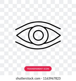 Observation vector icon isolated on transparent background, Observation logo concept