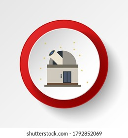Observatory colored button icon. Element of space illustration. Signs and symbols icon can be used for web, logo, mobile app, UI, UX