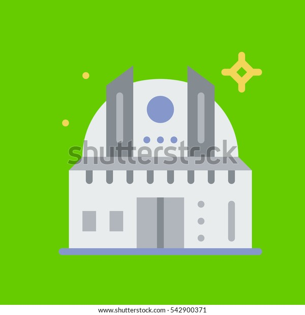 observatory icon flat disign