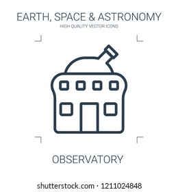 observatory icon. high quality line observatory icon on white background. from earth space astronomy collection flat trendy vector observatory symbol. use for web and mobile