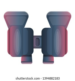 Observe binoculars icon. Cartoon of observe binoculars vector icon for web design isolated on white background