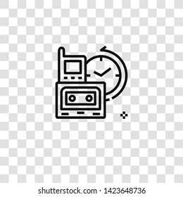 obsolete icon from  collection for mobile concept and web apps icon. Transparent outline, thin line obsolete icon for website design and mobile, app development