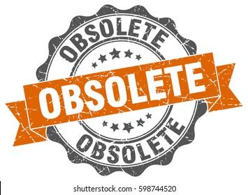 obsolete. stamp. sticker. seal. round grunge vintage ribbon obsolete sign