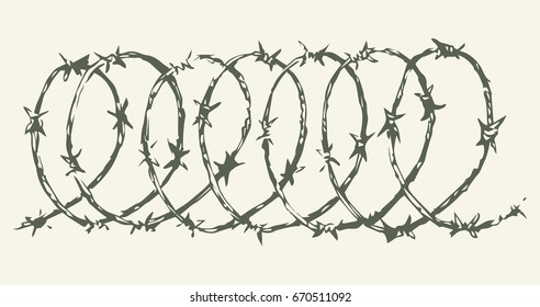 Razor Wire Isolated Stock Vectors, Images & Vector Art | Shutterstock