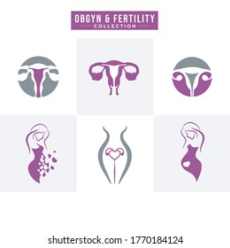obstetric or gynecological care is perfect for professional and iconic logo for related business