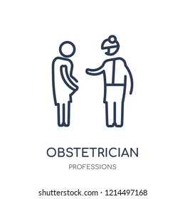 Obstetrician and Gynecologist icon. Obstetrician and Gynecologist linear symbol design from Professions collection. Simple outline element vector illustration on white background.