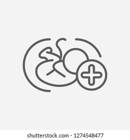 Obstetrics icon line symbol. Isolated vector illustration of  icon sign concept for your web site mobile app logo UI design.