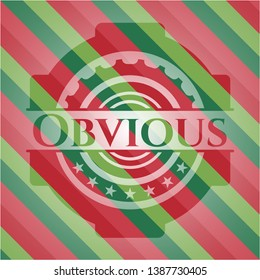 Obvious christmas emblem. Vector Illustration. Detailed.