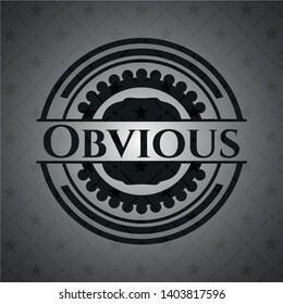 Obvious dark emblem. Retro. Vector Illustration. Detailed.