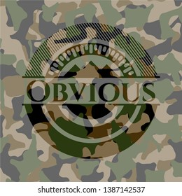 Obvious on camo texture. Vector Illustration. Detailed.