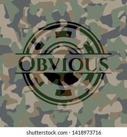Obvious on camouflage pattern. Vector Illustration. Detailed.